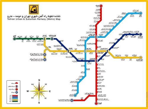 دانلود نقشه خطوط متروی تهران سال 97 با کیفیت بالا